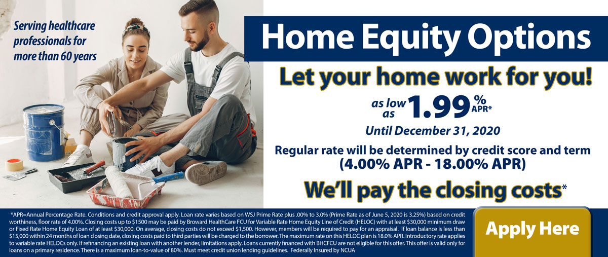 Let your home work for you. Equity options as low as 1.99%