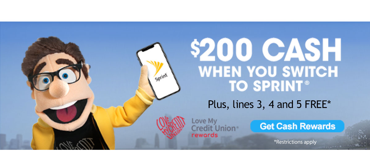 Get 200 dollars cash when you switch to sprint